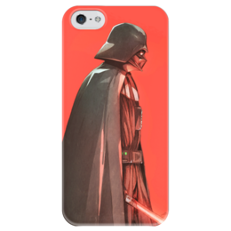 "Чехол для iPhone 5 глянцевый, с полной запечаткой ""Дарт Вейдер (Darth Vader) "" - star wars, darth vader, звездные войны, дарт вейдер, стар варс"
