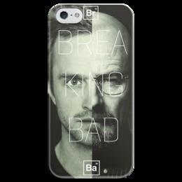 "Чехол для iPhone 5 глянцевый, с полной запечаткой ""Breaking Bad"" - во все тяжкие, breaking bad, хайзенберг, пинкман"