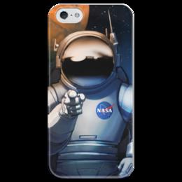 """Чехол для iPhone 5 глянцевый, с полной запечаткой """"We need you!"""" - космос, космический, звезды, вселенная, thespaceway"""