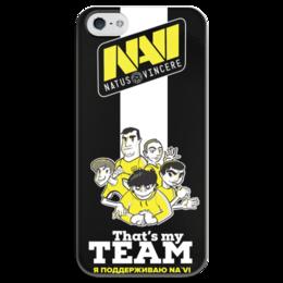 """Чехол для iPhone 5 глянцевый, с полной запечаткой """"NA'VI"""" - game, cs, кс, cs go"""