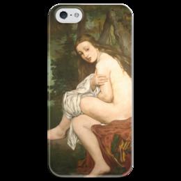 """Чехол для iPhone 5 глянцевый, с полной запечаткой """"Удивленная нимфа"""" - картина, мане"""