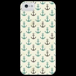"""Чехол для iPhone 5 глянцевый, с полной запечаткой """"Якорь"""" - море, якорь, sea, sailor, anchor"""