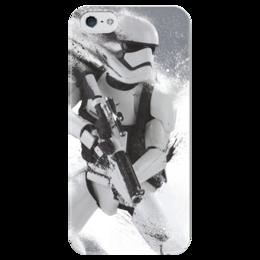 "Чехол для iPhone 5 глянцевый, с полной запечаткой ""Star Wars"" - star wars, clone, штурмовик, 2016"