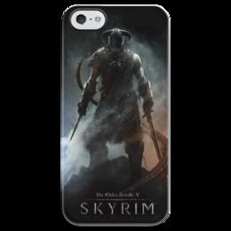 "Чехол для iPhone 5 глянцевый, с полной запечаткой ""Skyrim"" - skyrim, скайрим"