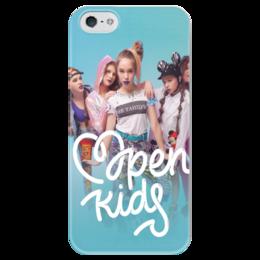 """Чехол для iPhone 5 глянцевый, с полной запечаткой """"Open Kids"""" - музыка, группа, open kids"""