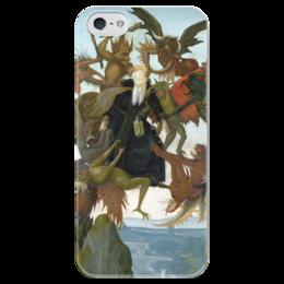 """Чехол для iPhone 5 глянцевый, с полной запечаткой """"Мучения святого Антония"""" - картина, микеланджело"""