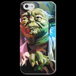 """Чехол для iPhone 5 глянцевый, с полной запечаткой """"Йода (Yoda)"""" - star wars, yoda, звездные войны, йода"""