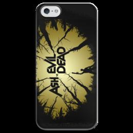 "Чехол для iPhone 5 глянцевый, с полной запечаткой ""Ash vs Evil Dead"" - арт, ужасы, мертвецы, эш"
