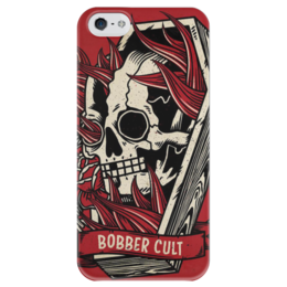 """Чехол для iPhone 5 глянцевый, с полной запечаткой """"Bobber Cult"""" - chopper, motorcycle, bobber"""