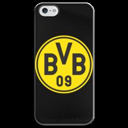 """Чехол для iPhone 5 глянцевый, с полной запечаткой """"Боруссия"""" - боруссия, футбольный клуб, дортмунд, borussia dortmund"""