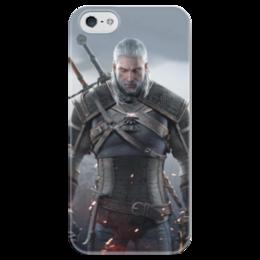 """Чехол для iPhone 5 глянцевый, с полной запечаткой """"Ведьмак"""" - игры, ведьмак, witcher, геймерские, для геймеров"""
