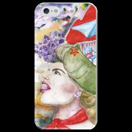 """Чехол для iPhone 5 глянцевый, с полной запечаткой """"Miss May / Мисс Май"""" - арт, россия, май, мисс май, miss may"""