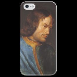 """Чехол для iPhone 5 глянцевый, с полной запечаткой """"Портрет Лоренцо Медичи"""" - картина, рубенс"""