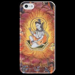 "Чехол для iPhone 5 глянцевый, с полной запечаткой ""Шива (Амардас Бхатти)"" - картина, раджпутская живопись"