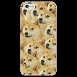 """Чехол для iPhone 5 глянцевый, с полной запечаткой """"Doge """" - doge, сиба-ину, доге, сиба"""