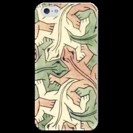 """Чехол для iPhone 5 глянцевый, с полной запечаткой """"Escher"""" - escher, эшер"""
