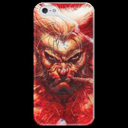 "Чехол для iPhone 5 глянцевый, с полной запечаткой ""Superheroes: wolverine"" - росомаха, marvel, марвел, x-men, wolverine"