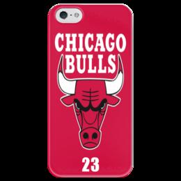 """Чехол для iPhone 5 глянцевый, с полной запечаткой """" Chicago Bulls"""" - nba, баскетбол, chicago bulls, чикаго буллз"""