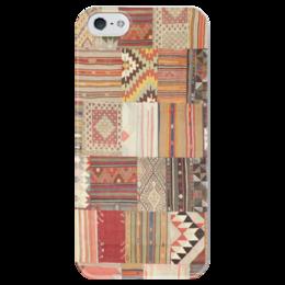"""Чехол для iPhone 5 глянцевый, с полной запечаткой """"покрывало"""" - patch, quilt, стёганое полотно, квилтинг, аппликациа, пэчворк"""