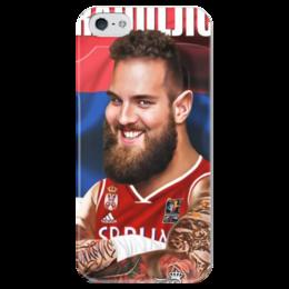 """Чехол для iPhone 5 глянцевый, с полной запечаткой """"Braduljica"""" - nba, serbia, raduljica"""