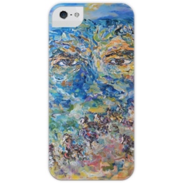 """Чехол для iPhone 5 глянцевый, с полной запечаткой """"мысли"""" - мысли, глаза, лошади, eyes, искусство, thoughts"""