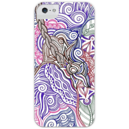 "Чехол для iPhone 5 глянцевый, с полной запечаткой ""Маргаритковый суп"" - арт, цветы"