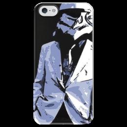 """Чехол для iPhone 5 глянцевый, с полной запечаткой """"Clone Gentleman"""" - star wars, звездные войны, gentleman, клон, clone, clone trooper"""