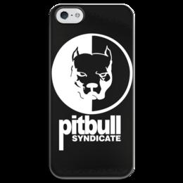 """Чехол для iPhone 5 глянцевый, с полной запечаткой """"Pitbull syndicate """" - смотра, pitbull syndicate"""
