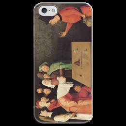 """Чехол для iPhone 5 глянцевый, с полной запечаткой """"Фокусник"""" - картина, босх"""
