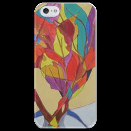 """Чехол для iPhone 5 глянцевый, с полной запечаткой """"Мозаика"""" - арт, рисунок, яркий, bright, цветной, витраж, colorful, калейдоскоп, красочный, mozaic"""