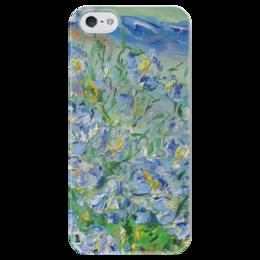 """Чехол для iPhone 5 глянцевый, с полной запечаткой """"Поцелуй небес"""" - весна, девушке, цветочки, лен, поцелуй небес"""