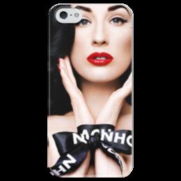 "Чехол для iPhone 5 глянцевый, с полной запечаткой ""Dita von Teese"" - dita von teese, дита фон тиз"
