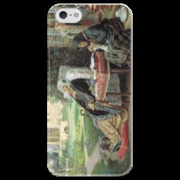 """Чехол для iPhone 5 глянцевый, с полной запечаткой """"Всё в прошлом"""" - картина, максимов"""