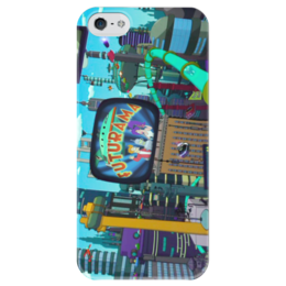"Чехол для iPhone 5 глянцевый, с полной запечаткой ""Futurama"" - футурама, futurama, бендер, bender, fry"