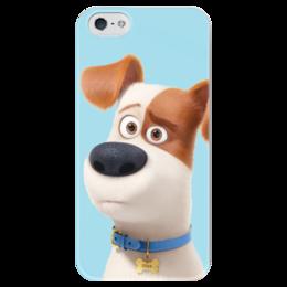"""Чехол для iPhone 5 глянцевый, с полной запечаткой """"Макс (Max)"""" - max, макс, тайная жизнь домашних животных, the secret life of pets"""
