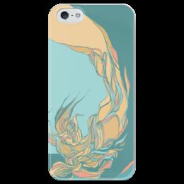 "Чехол для iPhone 5 глянцевый, с полной запечаткой ""абстракция"" - арт, абстракция, авторский дизайн, blue"