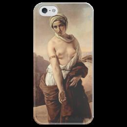 """Чехол для iPhone 5 глянцевый, с полной запечаткой """"Руфь (Франческо Айец)"""" - картина, айец"""