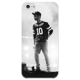 "Чехол для iPhone 5 глянцевый, с полной запечаткой ""Zayn Malik"" - one direction, zayn, zayn malik, bradford bad boy, dj malik"