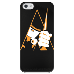 """Чехол для iPhone 5 глянцевый, с полной запечаткой """"Заводной апельсин"""" - арт, clockwork orange, заводной апельсин, кубрик, анти"""