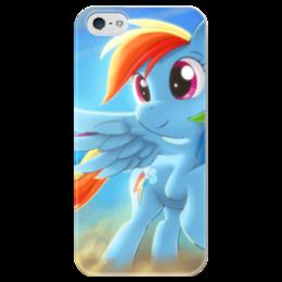 """Чехол для iPhone 5 глянцевый, с полной запечаткой """"Радуга Дэш"""" - rainbow dash, my little pony, friendship is magic, радуга дэш"""