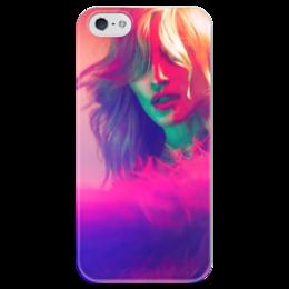 """Чехол для iPhone 5 глянцевый, с полной запечаткой """"Madonna"""" - фото, pink, розовый, яркий, madonna, мадонна, legend, queen of pop"""