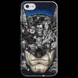 """Чехол для iPhone 5 глянцевый, с полной запечаткой """"Batman"""" - batman"""