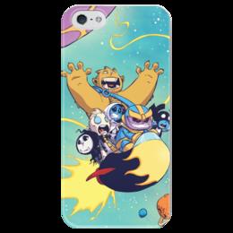 """Чехол для iPhone 5 глянцевый, с полной запечаткой """"Comics Art Series: Marvel"""" - рисунок, супергерои, марвел, superhero, танос"""