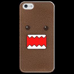"""Чехол для iPhone 5 глянцевый, с полной запечаткой """"Domo Kun JDM"""" - jdm, domo, domo kun, kun, домо-кун"""