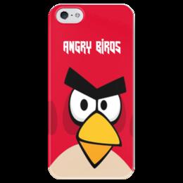"""Чехол для iPhone 5 глянцевый, с полной запечаткой """"Angry Birds (Terence)"""" - terence, злые птички, angry birds, мультфильм, компьютерная игра"""