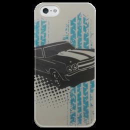 """Чехол для iPhone 5 глянцевый, с полной запечаткой """"muscle car"""" - машины, muscle car, масл"""