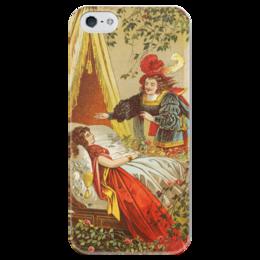 "Чехол для iPhone 5 глянцевый, с полной запечаткой ""Спящая красавица (сказка)"" - картина, лёйтеманн"