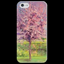 """Чехол для iPhone 5 глянцевый, с полной запечаткой """"Сакура"""" - весна, сакура, sakura"""