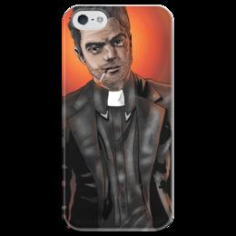 """Чехол для iPhone 5 глянцевый, с полной запечаткой """"Preacher"""" - проповедник, пастырь, джесси кастер, jessie custer"""