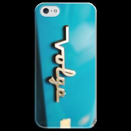 """Чехол для iPhone 5 глянцевый, с полной запечаткой """"Волга"""" - ссср, ретро, авто, волга, volga"""
